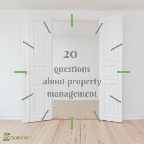 20 FAQs about property management